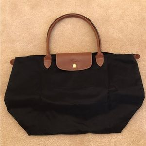 Longchamp Large Black Le Pliage Tote